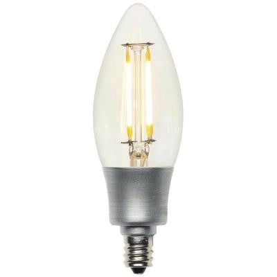 40W Equivalent Soft White Decorative B11 Torpedo Candelabra Base Dimmable Filament LED Light Bulb