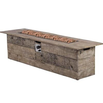 Galleon 60 in. x 20 in. Rectangular Propane Fire Pit
