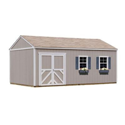 Columbia 12 ft. x 20 ft. Wood Storage Building Kit