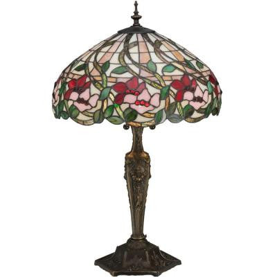 3 Light Poinsettia Table Lamp