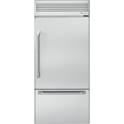Monogram 36 in. 21.33 cu. ft. Bottom Freezer Refrigerator in Stainless Steel Counter Depth