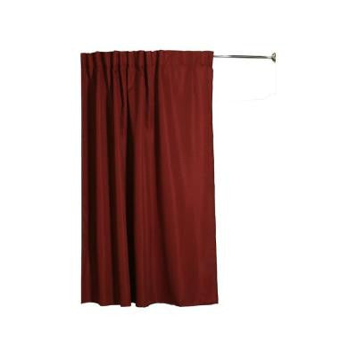 Infinity Collection 75 in. Fabric Shower Curtain with Matching Liner in Merlot