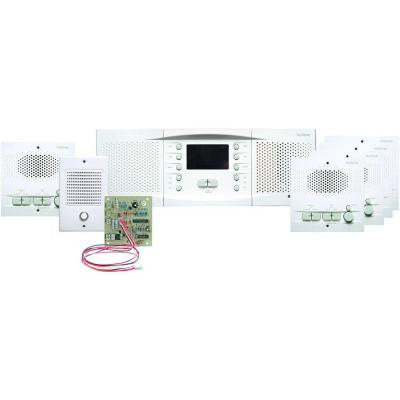 Whole House Intercom Kit with AM/FM Radio - White