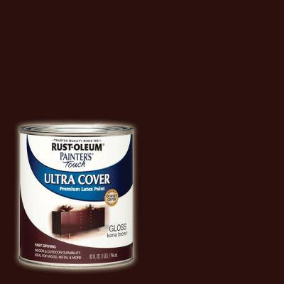 32 oz. Ultra Cover Gloss Kona Brown General Purpose Paint
