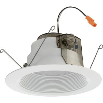 6 in. Matte White Recessed Baffle LED Module for New Construction