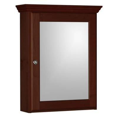 Ultraline 19 in. W x 6.5 in. D x 27 in. H Single Door Medicine Cabinet in Dark Alder