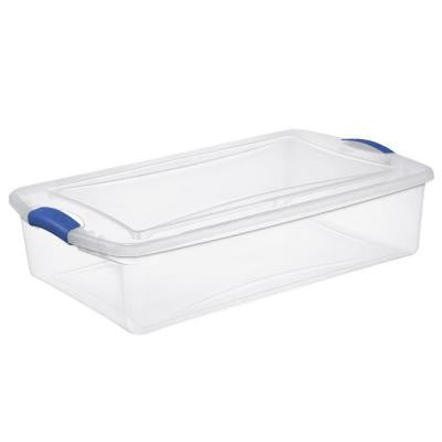 34 qt. Latch Storage Box (6-Pack)