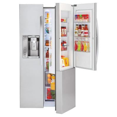 26.0 cu. ft. Side by Side Refrigerator in Stainless Steel with Door-in-Door Design