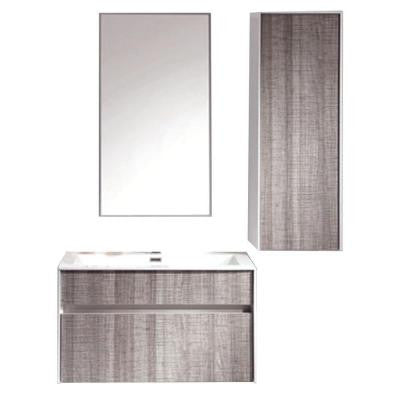 Sandy 30 in. W x 18 in. D Vanity in Gray with Ceramic Vanity Top in White with White Basin and Mirror