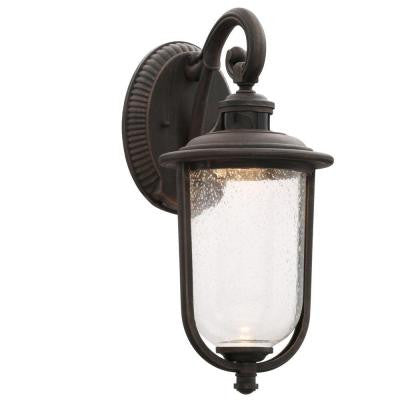 Perdido Rust LED Outdoor Motion Sensor Wall Mount Lantern