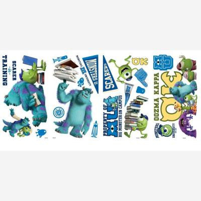 Monsters University Peel and Stick 20-Piece Wall Decals