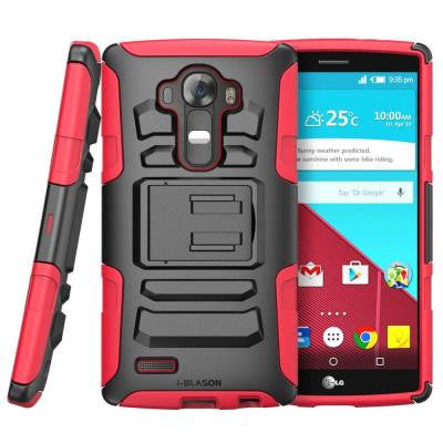 Prime Dual Layer Holster Case for LG G4 - Red