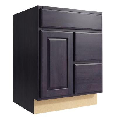 Salvo 24 in. W x 31 in. H Vanity Cabinet Only in Ebon Smoke