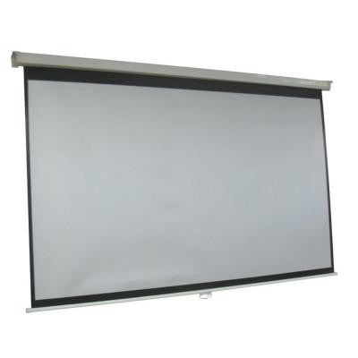 ProHT 100 in. Manual Projection Screen with White Frame