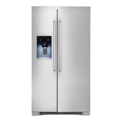 IQ-Touch 25.57 cu. ft. Side by Side Refrigerator in Stainless Steel, ENERGY STAR