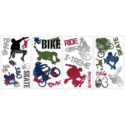 Extreme Sports Peel & Stick Wall Decal