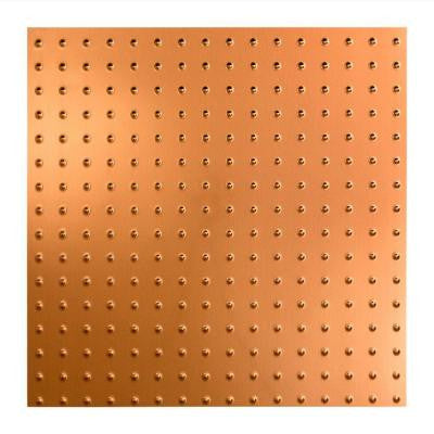 Minidome - 2 ft. x 2 ft. Lay-in Ceiling Tile in Polished Copper