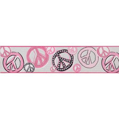6.75 in. Peace & Love Sign Border