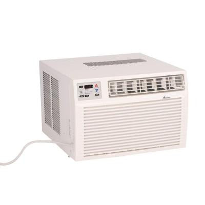 9,000 BTU R-410A Window Heat Pump Air Conditioner with 3.5 kW Electric Heat and Remote