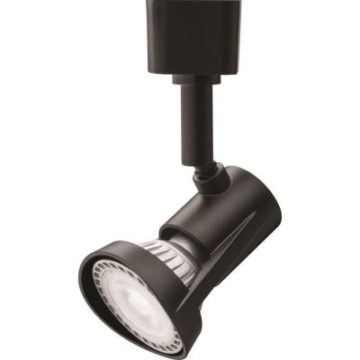 1-Light Black LED Track Lighting Head