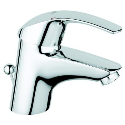 Eurosmart Single Hole Single Handle Low-Arc Bathroom Faucet in Chrome