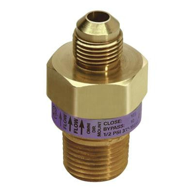 Safety+PLUS 3/8 in. OD Flare x 3/8 in. Female Flare (1/2 in. MIP) Excess Flow Valve (48,000 BTU Max)