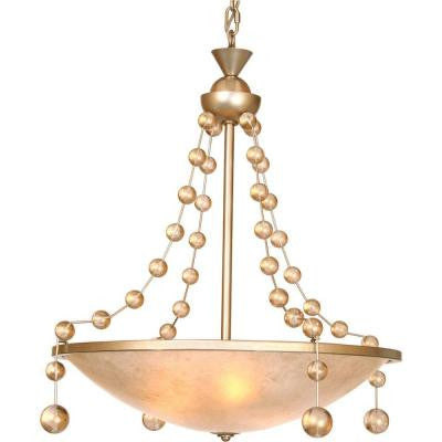 Century 3-Light Silver Jacobean Chandelier