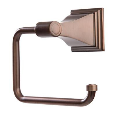 Leonard Collection Euro Style Single Post Toilet Paper Holder in Oil Rubbed Bronze