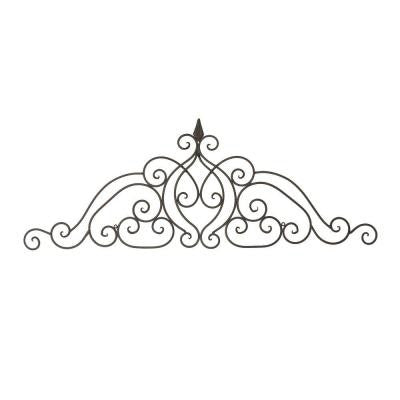 44.75 in. x 16.25 in. Lush Scroll Iron Wall Decor
