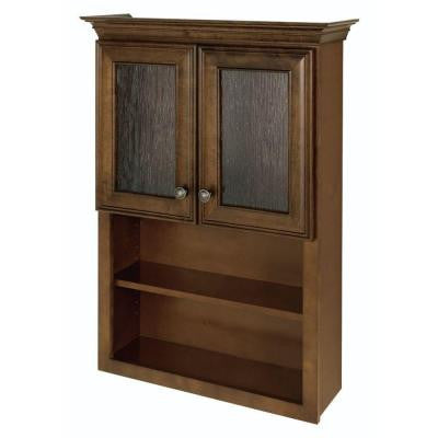 Templin 28 in. W Wall Storage Cabinet in Coffee