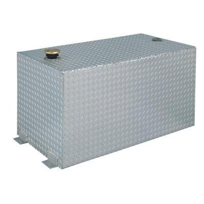 Rectangular Aluminum Liquid Transfer Tank in Silver Metallic