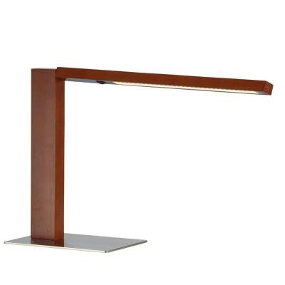 Linden 15-1/4 in. Dark Walnut LED Desk Lamp