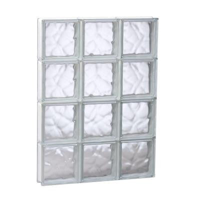 23.25 in. x 31 in. x 3.125 in. Non-Vented Wave Pattern Glass Block Window