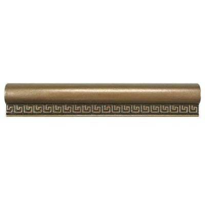 Contempo Greek Key Bronze Chair Rail 8 in. x 1-1/5 in. Metallic Wall Trim Tile
