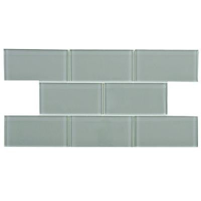Tessera Subway Blue Smoke 3 in. x 6 in. x 8 mm Glass Wall Tile (1 sq. ft. / pack)
