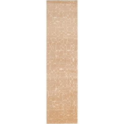 Julie Cohn Beige 2 ft. 6 in. x 10 ft. Contemporary Rug Runner