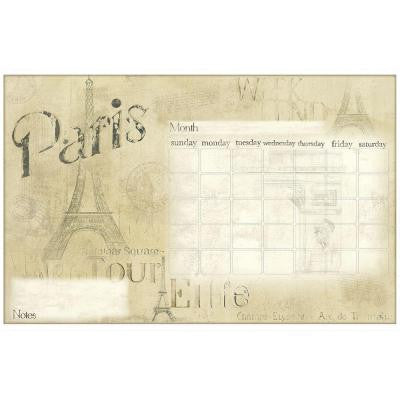 2.5 in. x 27 in. Paris Dry Erase Calendar Peel and Stick Wall Decals