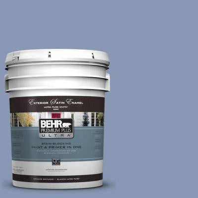 5-gal. #600F-5 Blueberry Buckle Satin Enamel Exterior Paint