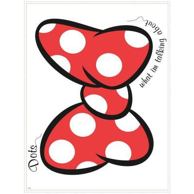 2.5 in. W x 21 in. H Dots What I'm Talking about Peel and Stick Giant Wall Graphic