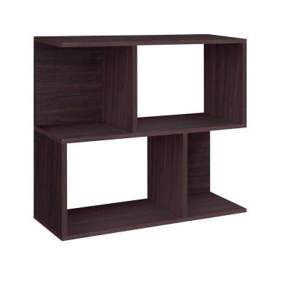 zBoard Eco 2-Shelf Soho Bookcase, Side Table and Storage Shelf in Espresso