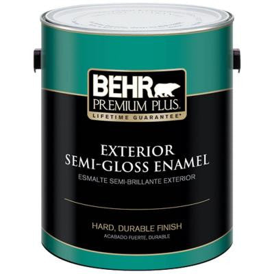 1-gal. Ultra Pure White Semi-Gloss Enamel Exterior Paint