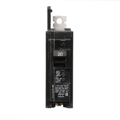 20 Amp Single-Pole Type BQ 10 kA Lug-In/Lug-Out Circuit Breaker