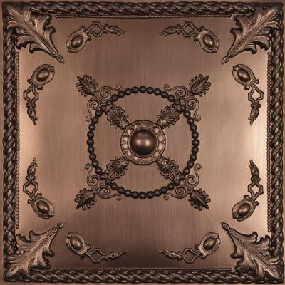 Alexander Faux Bronze 2 ft. x 2 ft. Lay-in or Glue-up Ceiling Panel (Case of 6)