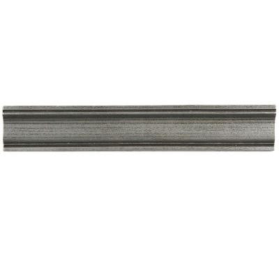 Contempo Piazza Pewter Moldura 2 in. x 12 in. Metallic Wall Trim Tile