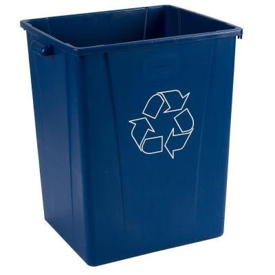 Centurian 50 Gal. Blue Imprinted Recycling Container with Recycling Logo (4-Pack)