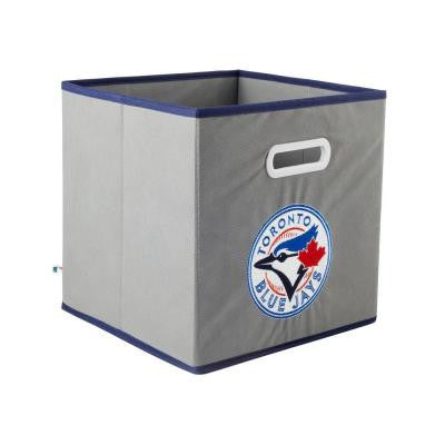 MLB STOREITS Toronto Blue Jays 10-1/2 in. x 10-1/2 in. x 11 in. Grey Fabric Storage Drawer