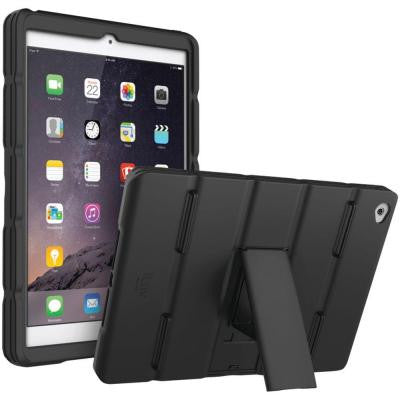 iPad Air 2 Layup Case with Hand Strap and Kickstand - Black