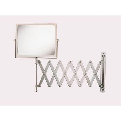8.25 in. x 6.5 in. Wall Mount Hind Sight Mirror in Chrome/White