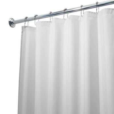 Poly Waterproof Stall-Size Shower Curtain Liner in White