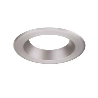 6 in. Decorative Brushed Nickel Trim Ring for LED Recessed Light with Magnetic Trim Ring